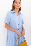 . Платье Иветта к/р. Цвет: голубой в Украине