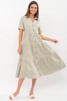 . Платье Иветта к/р. Цвет: оливковый цена