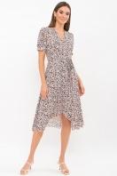 . Платье Алеста к/р. Цвет: черный-ромашки купить