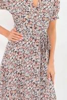 . Платье Алеста к/р. Цвет: черный-ромашки в интернет-магазине