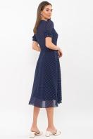 . Платье Алеста к/р. Цвет: т.синий-белый м. горох цена
