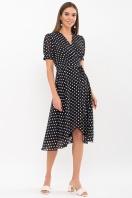 . Платье Алеста к/р. Цвет: черный-белый горох купить