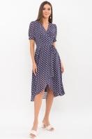 . Платье Алеста к/р. Цвет: синий - белый горох купить