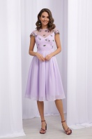 нарядное платье лавандового цвета. Платье Айседора б/р. Цвет: лавандовый 1 купить
