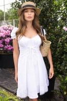 белое платье из хлопка. Платье Ожена к/р. Цвет: белый в Украине