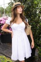 белое платье из хлопка. Платье Ожена к/р. Цвет: белый недорого