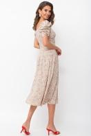 . Платье Никси к/р. Цвет: бежевый-м.букет в интернет-магазине