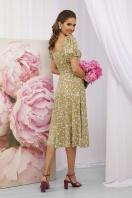 . Платье Билла к/р. Цвет: оливковый-сиреньРозы в интернет-магазине