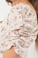 . Платье Никси к/р. Цвет: молоко-персик.Розы в Украине