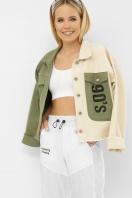 . 211890 AST Куртка VА. Цвет: хаки-молоко в интернет-магазине