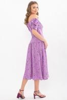 . Платье Никси к/р. Цвет: лиловый-цветы веточки в интернет-магазине
