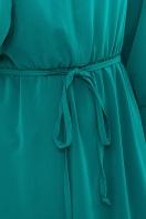 изумрудное платье миди. Платье Фернанда д/р. Цвет: изумруд в Украине