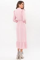 изумрудное платье миди. Платье Фернанда д/р. Цвет: пудра в интернет-магазине