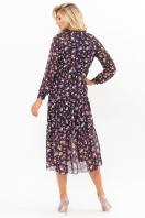 . Платье Мариэтта д/р. Цвет: синий-букет разноцветн в интернет-магазине