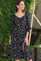 . Платье Пала д/р. Цвет: черный-полевые цветы купить