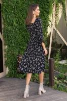 . Платье Пала д/р. Цвет: черный-полевые цветы в интернет-магазине