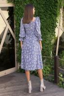 . Платье Пала д/р. Цвет: джинс-полевые цветы в интернет-магазине