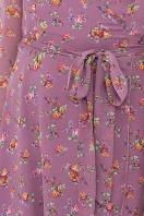 нежное платье на запах. Платье Алеста д/р. Цвет: лиловый-букет Роз в интернет-магазине