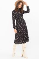 . Платье Санторини д/р. Цвет: черный-м.букет купить