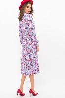 . Платье Санторини д/р. Цвет: лаванда-цветочки цена