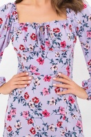 лавандовое платье с цветочным принтом. Платье Валия д/р. Цвет: лаванда-цветочки в интернет-магазине