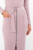 теплое платье-футляр. Платье Виталина 1 д/р. Цвет: пыльная роза в интернет-магазине