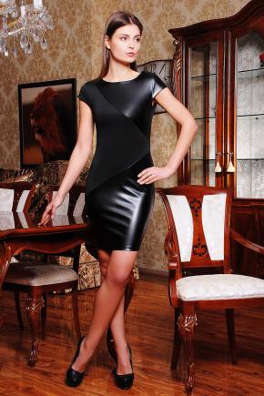 платье Марси б/р. Цвет: черный-черная кожа