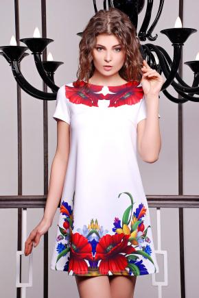 Маки платье Тая-2 к/р. Цвет: принт