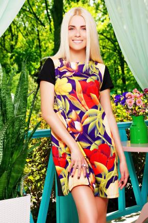 Кувшинки платье Тая-2 к/р. Цвет: принт