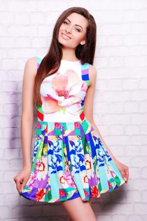 Цветочная абстракция платье Мия-2 б/р. Цвет: принт