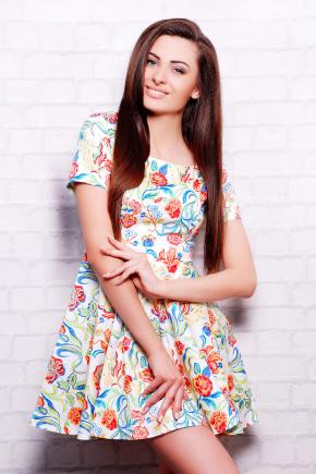 платье Милава2 к/р. Цвет: молоко-цветы лилии