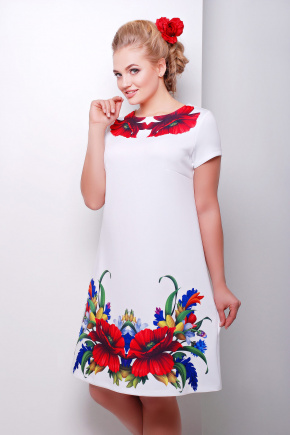 Маки платье Тая-2Б к/р. Цвет: принт