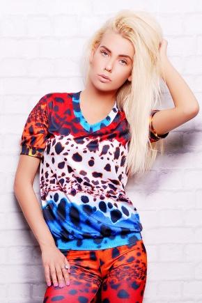 Разноцветный леопард кофта Свитшот №1М (весна) к/р. Цвет: принт