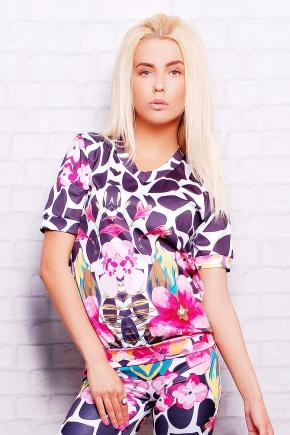 Цветной жираф кофта Свитшот №1М (весна) к/р. Цвет: принт