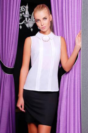 блуза Келли б/р. Цвет: белый-белая отделка