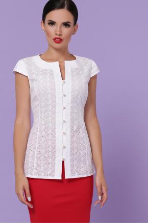 блуза Флори к/р. Цвет: белый