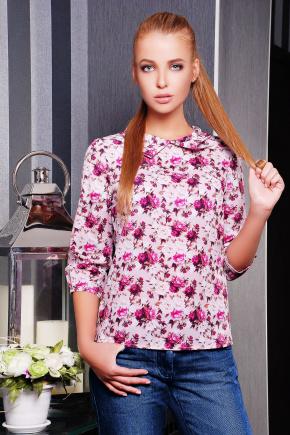 Пионы блуза Тамила1 д/р. Цвет: принт
