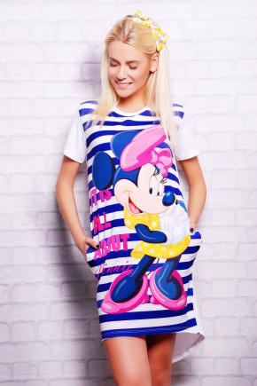 Полоска Minnie футболка Фрак-2. Цвет: принт