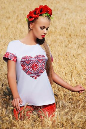 Сердце блуза Кимоно 2Н к/р. Цвет: принт