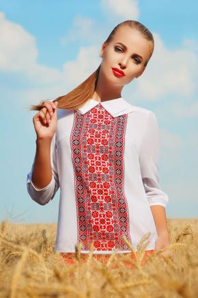 Вышиванка блуза Тамила2 д/р. Цвет: красный