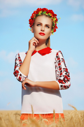 Червона Рута блуза Тамила3 д/р. Цвет: принт