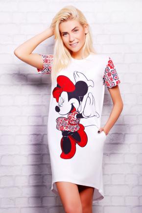 Вышиванка Minnie футболка Фрак-3. Цвет: принт