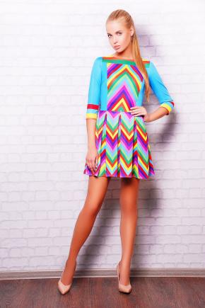Valentino Rainbow платье Мия-1 д/р. Цвет: принт