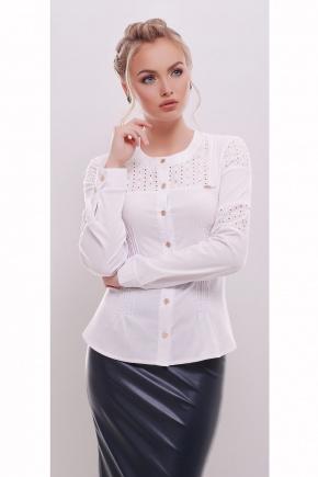 блуза Снежана д/р. Цвет: белый