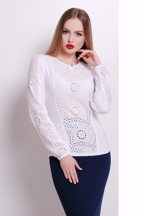 блуза Купава д/р. Цвет: белый