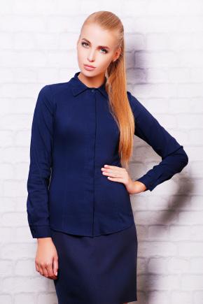 блуза Норма д/р. Цвет: темно синий