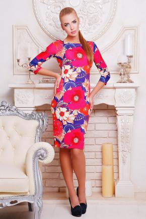 Модерн платье Лоя-1 д/р. Цвет: принт
