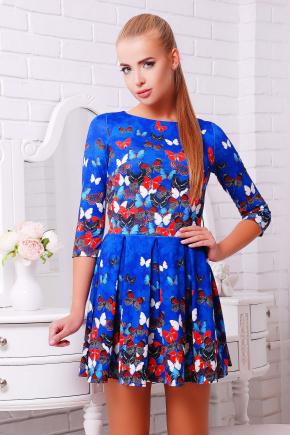 Бабочки платье Мия-1 д/р. Цвет: принт