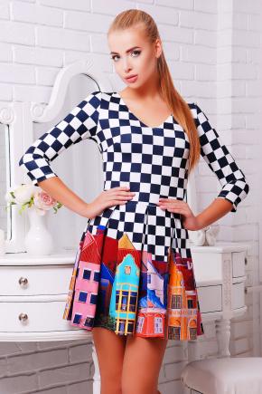 Город платье Мия-1 д/р. Цвет: принт