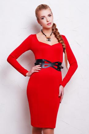 платье Адриана д/р. Цвет: красный